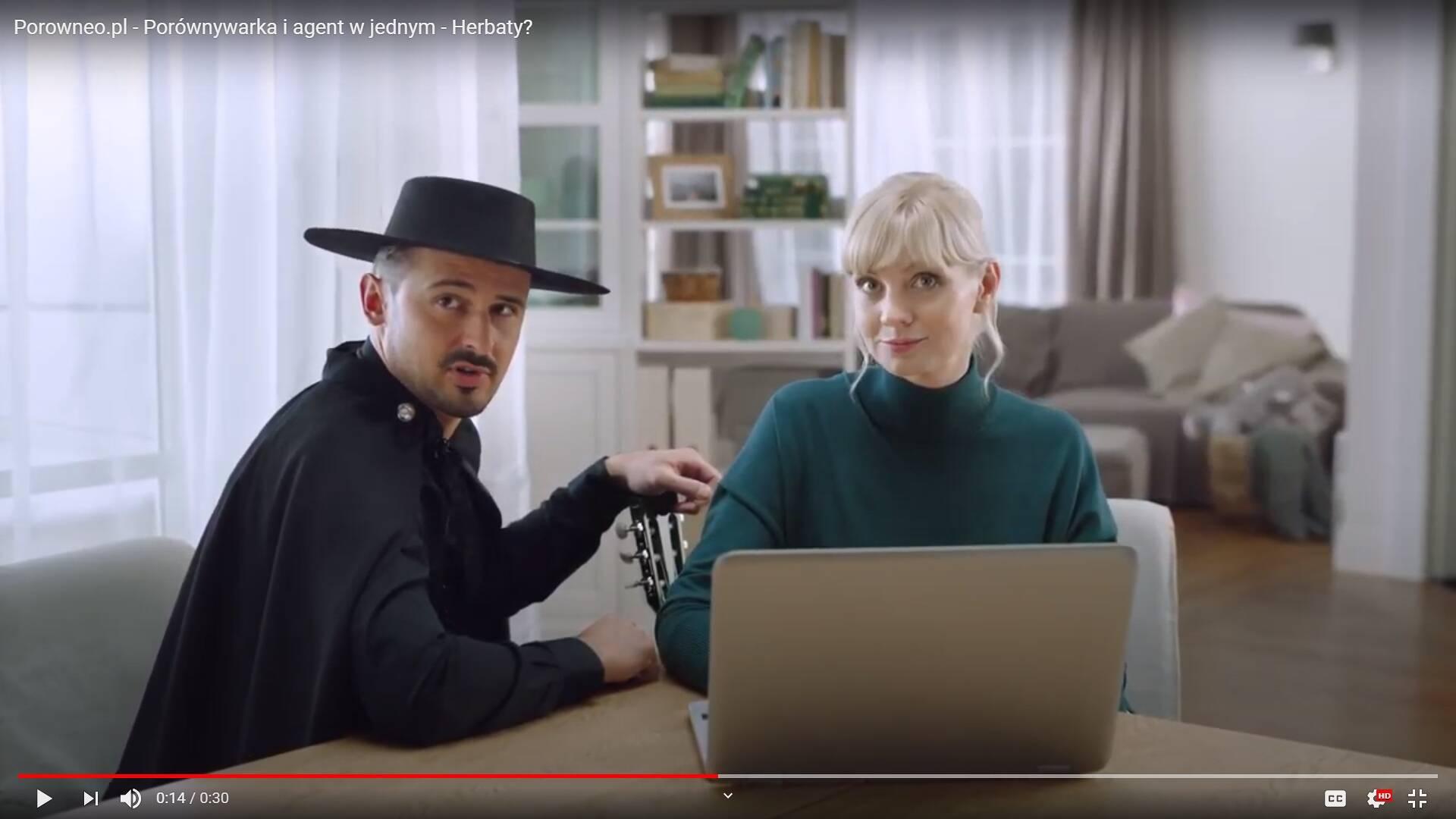 Porówneo: Reklamy Porówneo.pl – porównywarka i agent w jednym. I gitarrrra gra!